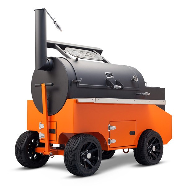 "Yoder Smokers 26"" Cimarron Offset Smoker on Competition Cart"