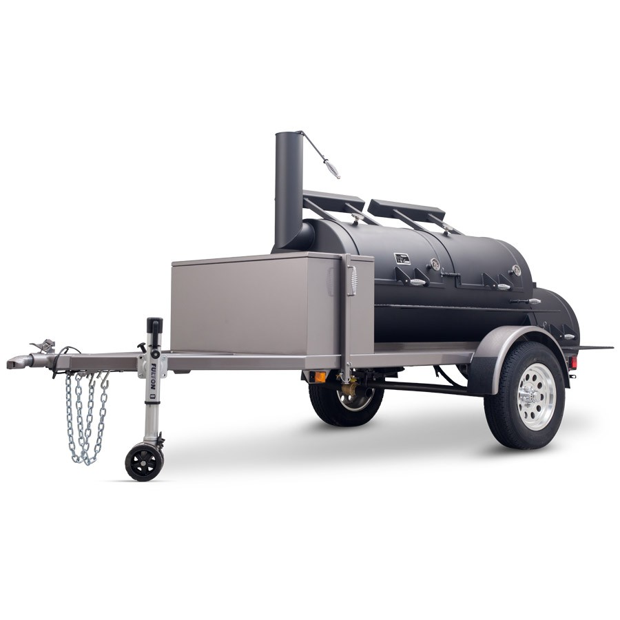 "Yoder Smokers 30"" Frontiersman II Double Door Trailer Mounted Smoker"
