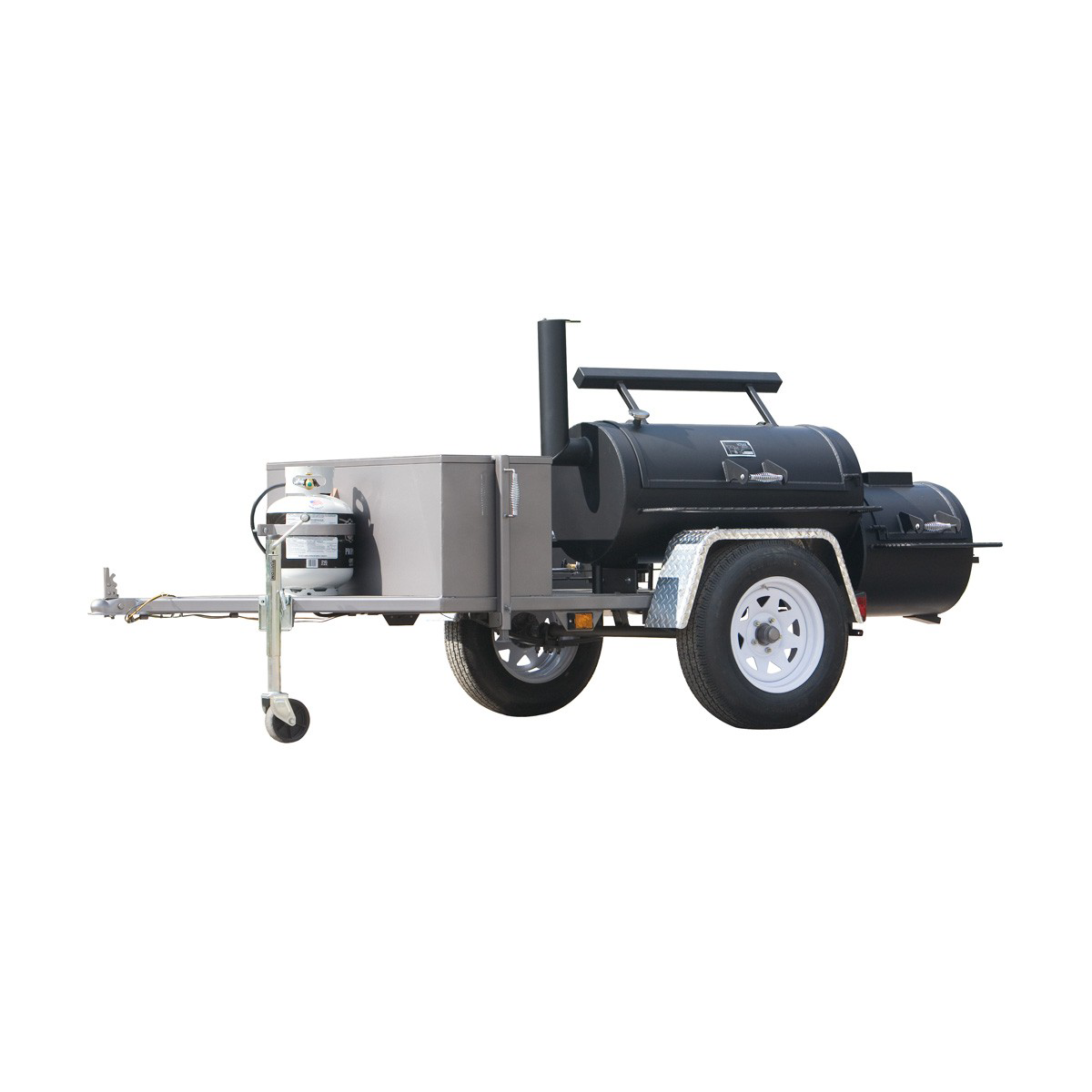 "Yoder Smoker 20"" Santa Fe Trailer Mounted Smoker"