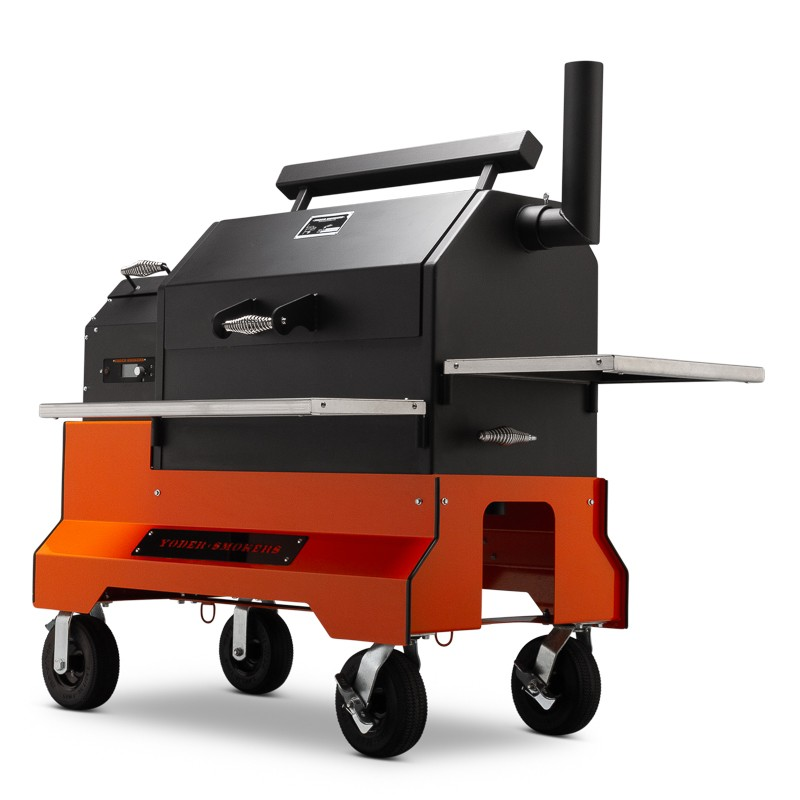 Yoder Smokers YS640 S Pellet Grill on Competition Cart